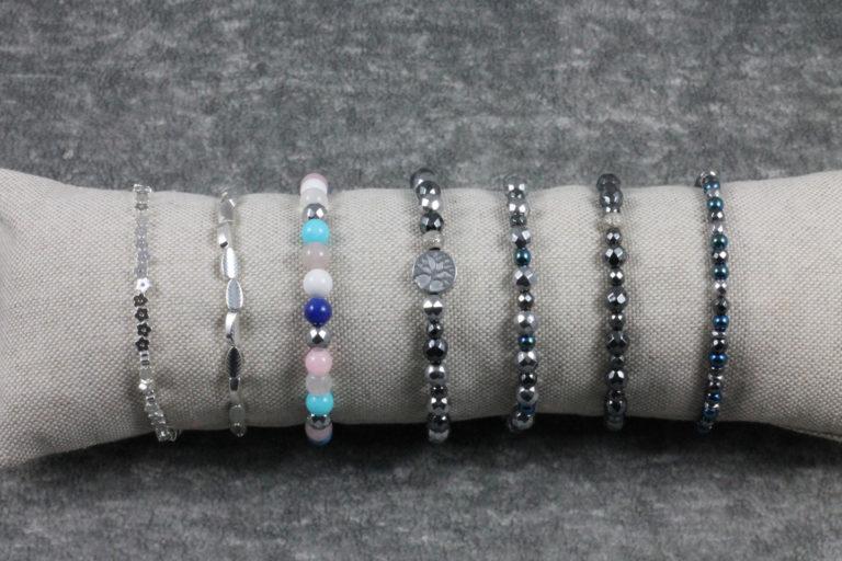 Armbänder Mix Hämatit Naturstein