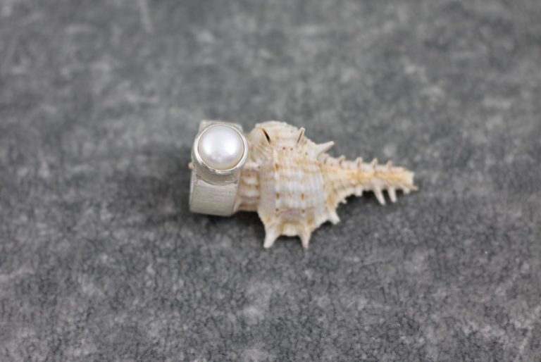 Perlenring Silber - 925