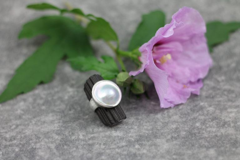 Ring Permutt mit Perle - 925