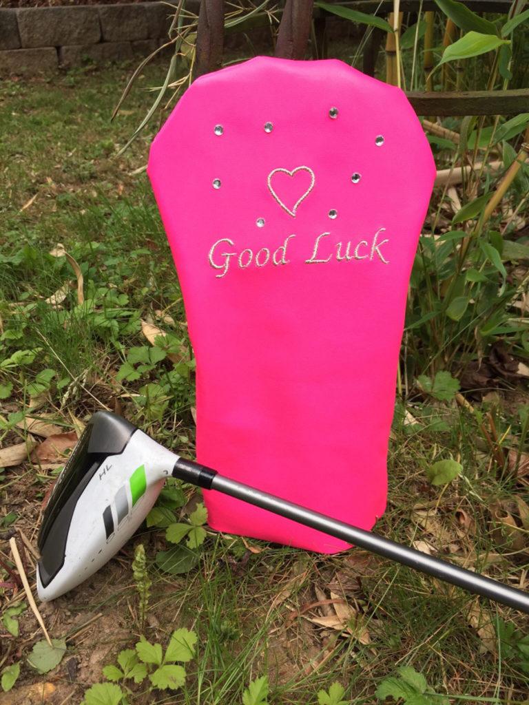 Schlägerhaube Good Luck pink