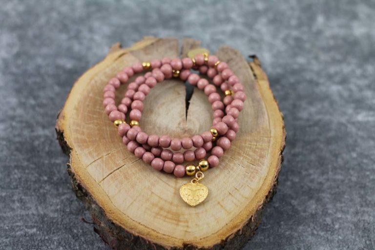 Wickelarmband Wood natur