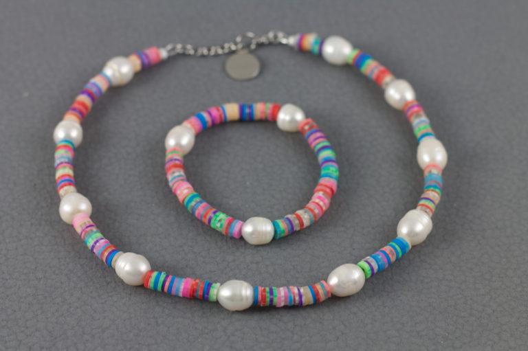 Pastellmix mit Perlen